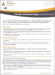 State of American Energy